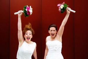 lesbische gleichgeschlechtliche Hochzeit Hamburg