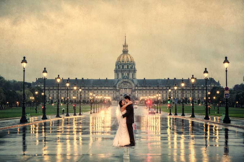 Hochzeit Paris am Morgen