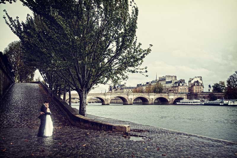 Hochzeit Paris Seine
