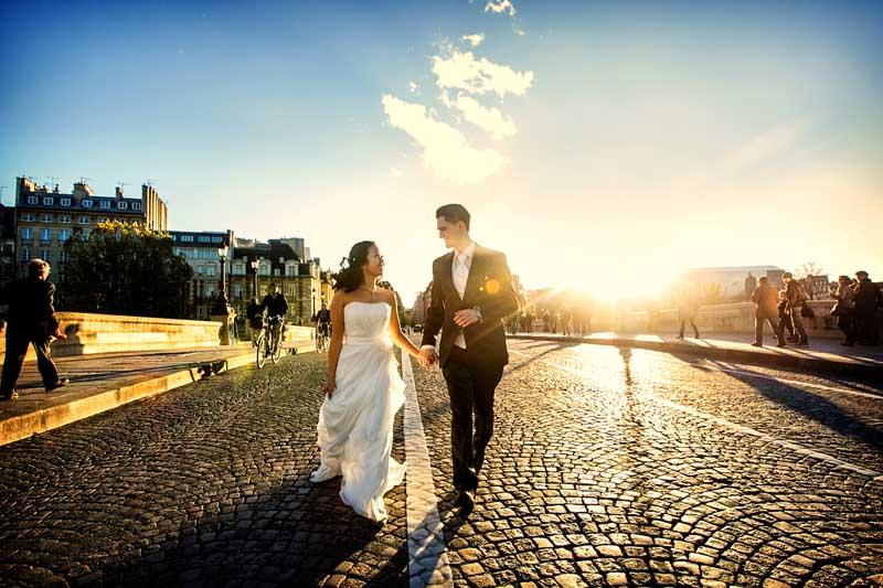 Hochzeitsfotos vom Pont Neuf