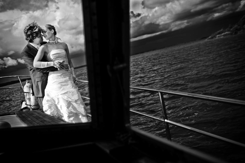 Hochzeitsfoto auf dem Schweriner See